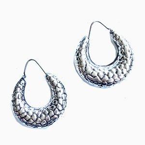 Vintage 925 Silver Circle Earrings