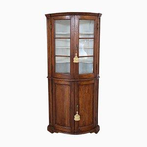 Antique Poplar Wood Corner Cabinet, 1780s