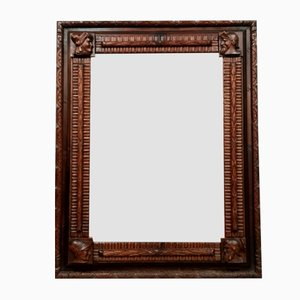 Renaissance Style Stained Wood Mirror, 1800s