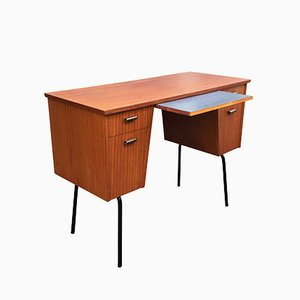 Skandinavischer Schreibtisch aus Teak & Metall von Ikea, 1950er