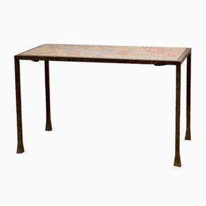 Table Basse en Fer Forgé et Marbre