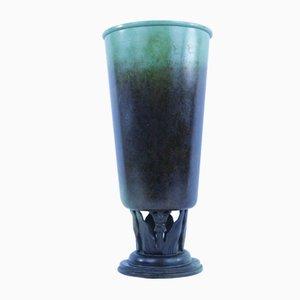 Jugendstil Vase aus Bronze von Berona