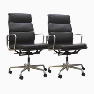 Chaise de Bureau Ea219 Soft Pad Gris Foncé par Charles & Ray Eames pour Vitra, 2000s