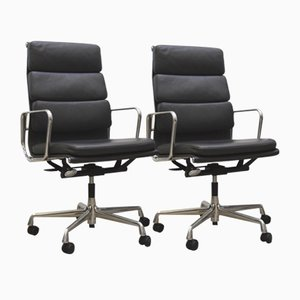 Dark Grey Ea219 Soft Pad Office Chair by Charles & Ray Eames for Vitra, 2000s