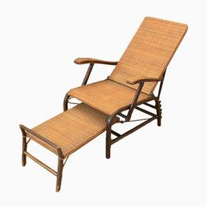 Chaise Longue de Jardin Bauhaus en Rotin dans le Style de Erich Dieckmann