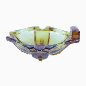 Art Deco Glass Ashtray, 1930s
