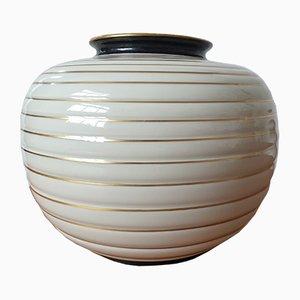 Große Art Deco Boule Vase von Langenthal