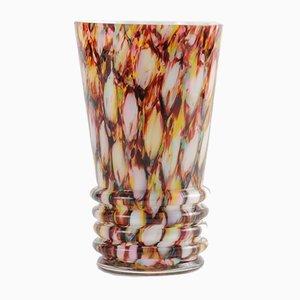 Vintage Honeycomb Spatter Glass Tumbler from Franz Welz