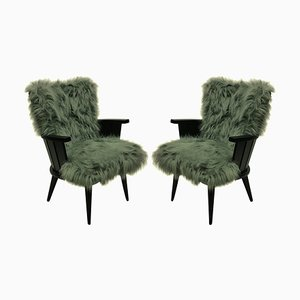 French Lounge Chairs, 1950s, Set of 2