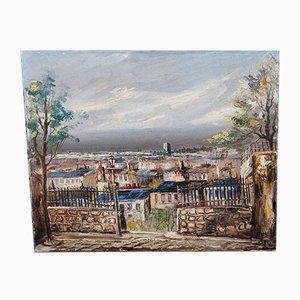 Öl auf Leinwand, Montmartre, Paris, 1970er