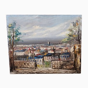 Oil on Canvas, Montmartre, Paris, 1970s