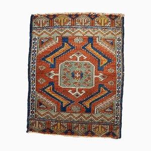 Antique Turkish Handmade Yastik Rug, 1870s