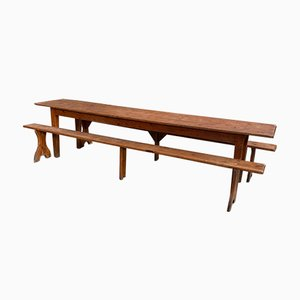 Large Brewery Table with 2 Benches