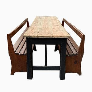 Brewery Table and 2 Benches