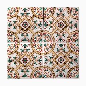 Antike Keramikfliese mit Fisch von Onda Spain, 1900