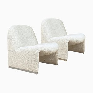 Alky Chairs with Dedar Fabric by Giancarlo Piretti for Castelli / Anonima Castelli, Italy, Set of 2