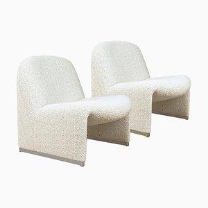 Alky Stühle mit Dedar Bezug von Giancarlo Piretti für Castelli / Anonima Castelli, Italy, 2er Set