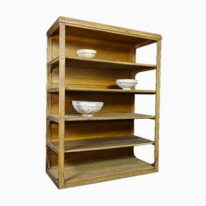 Brocante Large Wooden Shelf Cabinet in Brown