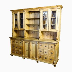 Large Brocante Kitchen Cabinet with Drawers, 1950s