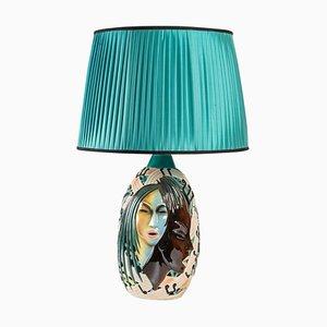Italian Glazed Ceramic Lamp, 1970