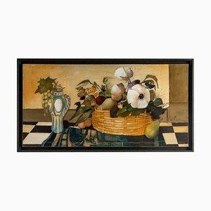 Albert Deman, Fruits et Fleurs, Huile sur Toile