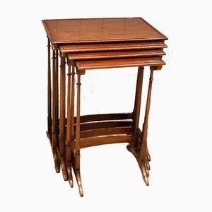 Mahogany Nesting Tables, Set of 4