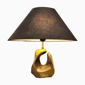 Lampada da tavolo vintage in bronzo di Michel Jaubert, anni '70