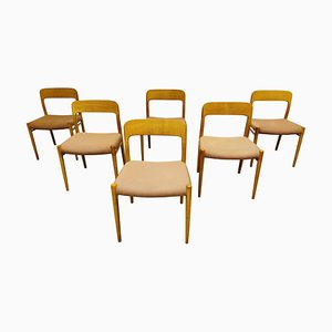 Model 75 Dining Chairs by Niels Otto Moller, 1960s, Set of 6