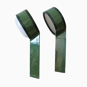 Italian Tamburo Green Outdoor Lighting Fixture by Tobia Scarpa for Flos
