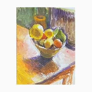Christophe Marion, Coupe de fruits sur la table, 2006