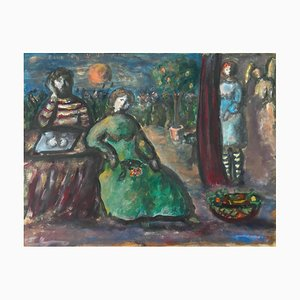 Henriette Baréty, Le soir au jardin, 1972