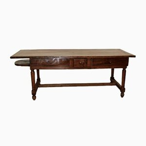 Farmhouse Table in Walnut and Cherry, Late 18th Century
