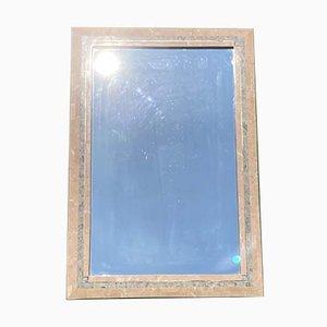 Tessellierter Spiegel mit korallenrotem Stein von Maitland Smith, 1970er