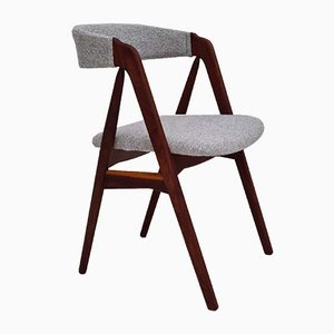 Danish Renovated Chair in Kvadrat Wool by Kai Kristiansen, 1960s