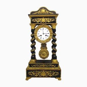 Napoleon III Portico Pendulum Clock, 19th Century