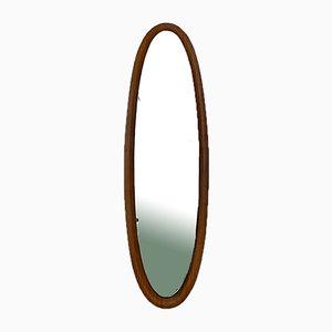 Italian Mid-Century Modern Large Mirror with Teak Structure,1960s.