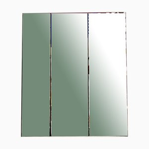Large Italian Decorative Mirror with Multicolored Abstract Design, 1980s