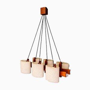 Vintage 6 Light Chandelier or Pendant Lamp, 1960s