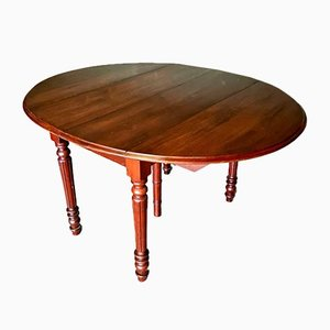 Antique French Louis Philippe Adjustable Table in Oak