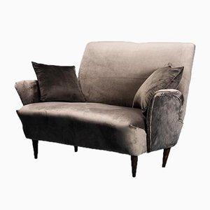 Vintage 2-Sitzer Sofa mit Samtkissen von Zuffi, 1970er