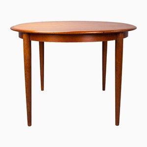 Vintage Danish Oval Teak Dining Table from Skovmand & Andersen