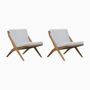 Mid-Century Swedish Scissor Chairs by Folke Ohlsson for Bodafors, 1960s, Set of 2