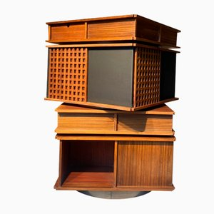 Swivel Cabinet for Library or Bar by Gianfranco Frattini