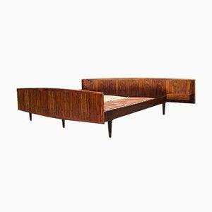 Mid-Century Danish Rosewood Floating Bed from Sannemans Møbelfabrik, 1960s, Set of 9