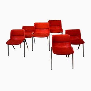 Red Dining Chair by Osvaldo Borsani