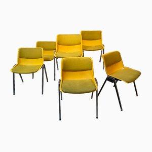 Sedia da pranzo gialla di Osvaldo Borsani
