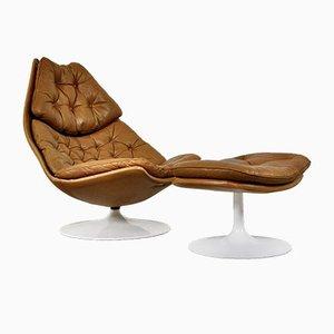 F510 Stuhl und Fußhocker von Geoffrey Harcourt für Artifort, 1960er