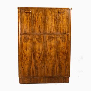 Art Deco Walnut Cocktail Cabinet from Gold & Feather, Leeds, 1930s
