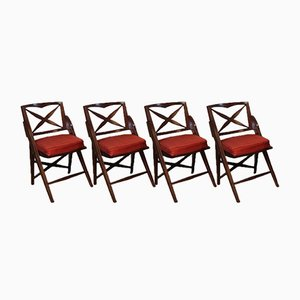 Vintage Folding Chairs, 1950s, Set of 4