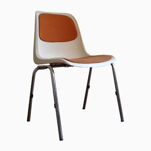 Plastic Europa Stacking Office Chairs by Helmut Starke, Set of 6